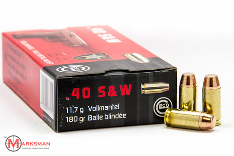 GECO .40 S&W, 180 Gr Flat Nose