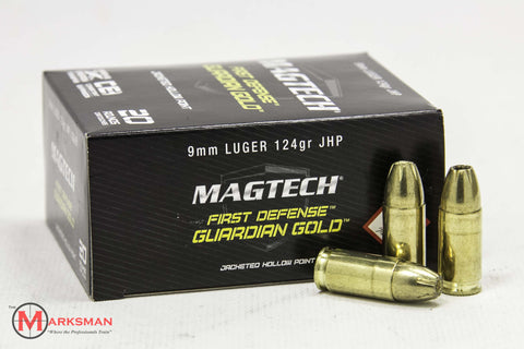 Magtech Guardian Gold 9mm Luger, 124 gr. JHP