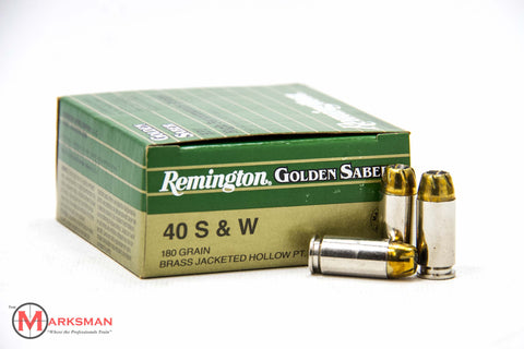 Remington Golden Saber .40 S&W, 180 gr. JHP