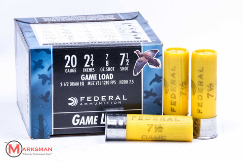 Federal Game Load 20 Gauge, 7 1/2 shot