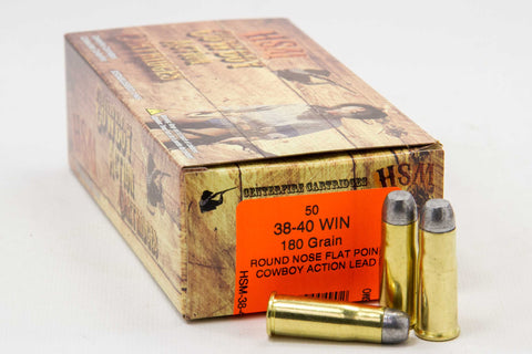 HSM .38-40 Winchester, 180 Gr. RNFP, Cowbot Action