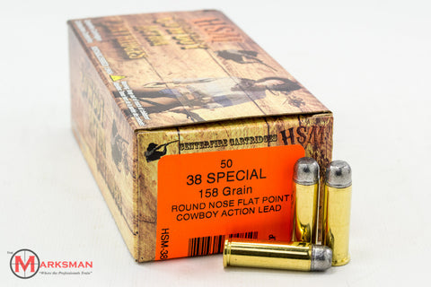 HSM .38 Special, 269 Gr. RNFP, Cowboy Action