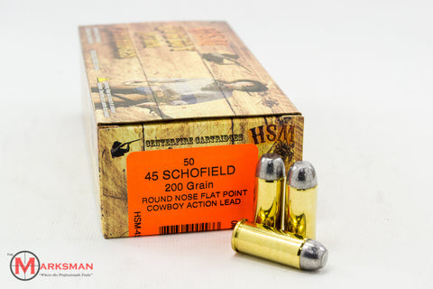 HSM 45 Schofield, 200 gr. RNFP, 50 Rounds NEW