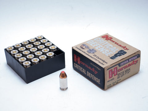 Hornady Critical Defense 9 x 18mm Makarov, 95 gr FTX