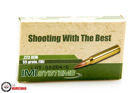 IMI .223 Remington, 55 gr. FMJ, Online Deal Only