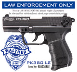 Walther PK380, .380 ACP, LAW ENFORCEMENT/MILITARY SALES ONLY