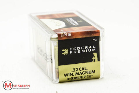 Federal Premium .22 Win. Magnum, 30 Gr. Speer TNT HP