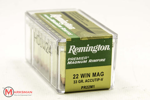 Remington Premier .22 Win. Magnum, 33 Gr. Accutip-V