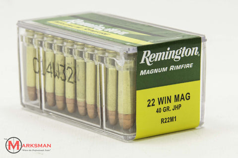 Remington .22 Win. Magnum, 40 Gr. JHP