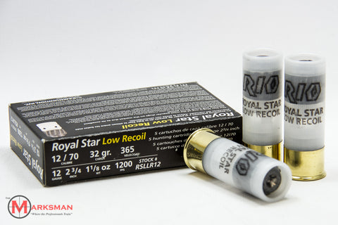 "Rio Royal Star Low Recoil 12 Gauge, 2 3/4"", 1 1/8 oz. Slug"