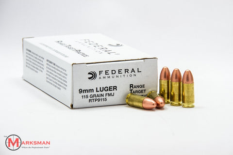 Federal 9mm Luger, 115 grain FMJ
