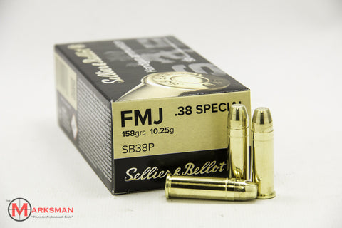Sellier and Bellot .38 Special, 158 Gr. FMJ