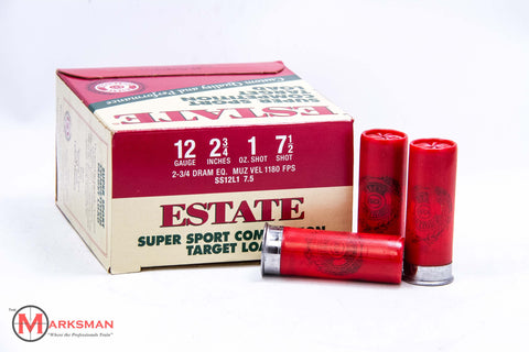 "Estate Target Load 12 gauge,  2 3/4"", 1 oz., 7.5 shot"