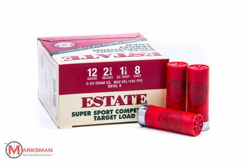 "Estate Target Load 12 Gague, 2 3/4"", 1 1/8 oz, 8 shot"