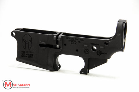 Spike's Tactical Stripped AR-15 Lower Receiver, Spartan Logos