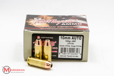 Ted Nugent Ammo 10mm, 180 Gr. JHP