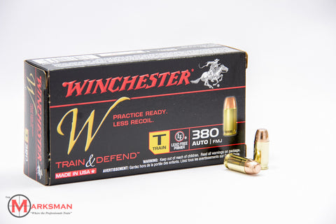 Winchester Train and Defend .380 ACP, 95 gr. FMJ