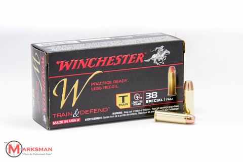 Winchester Train and Defend .38 Special, 130 gr. FMJ