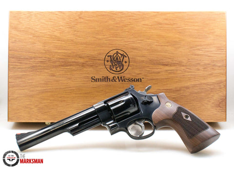 Smith and Wesson 29, .44 Magnum Wood Grips and Display Case