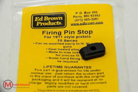 Ed Brown 1911 Firing Pin Stop, Blued, Series '70
