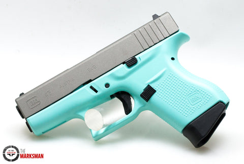 Glock 43, 9mm, Eggshell Blue, Acusport Exclusive