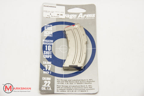 Savage Arms .22lr/.17 Mach 2 Magazine, 10 rd