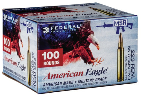 American Eagle .223 Remington, 55 Gr. FMJ
