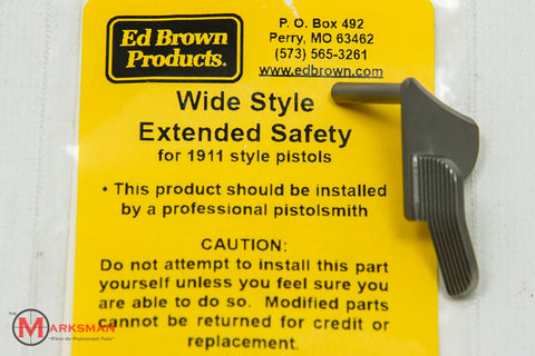 Ed Brown 1911 Wide Style Extended Safety, Stainless Steel