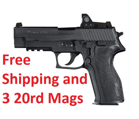 Sig Sauer P226 RX, 9mm, ROMEO1 Red Dot Sight, Free Shipping and Three Extended Magazines, Online Only