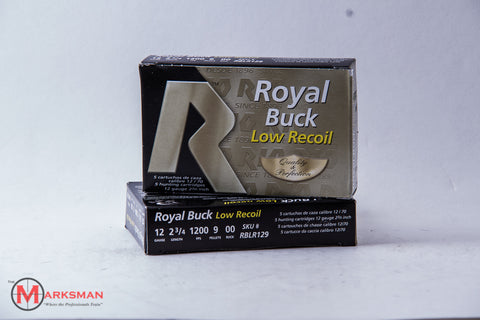 "Rio Royal Buck Low Recoil 12 Gauge, OO Buck, 2 3/4"", Online Deal Only"