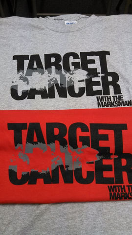 """Target Cancer with The Marksman"" T-shirt"