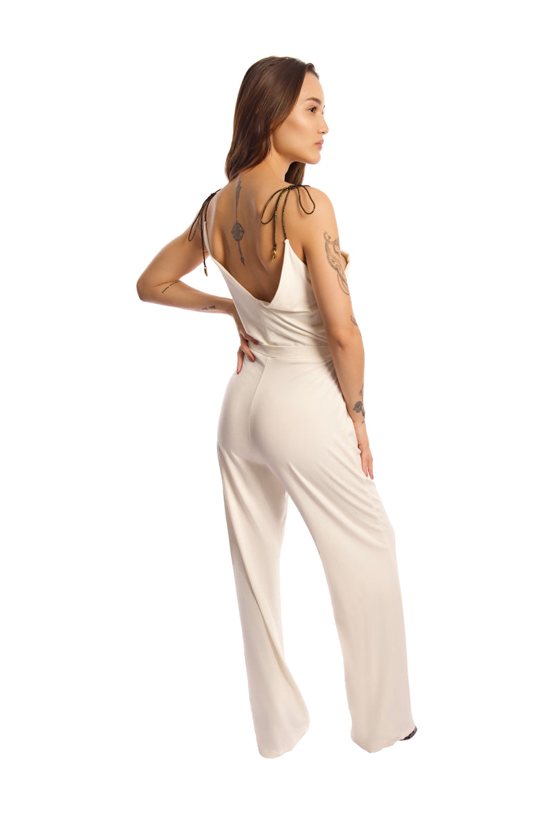 KATE JUMPSUIT IN IVORY