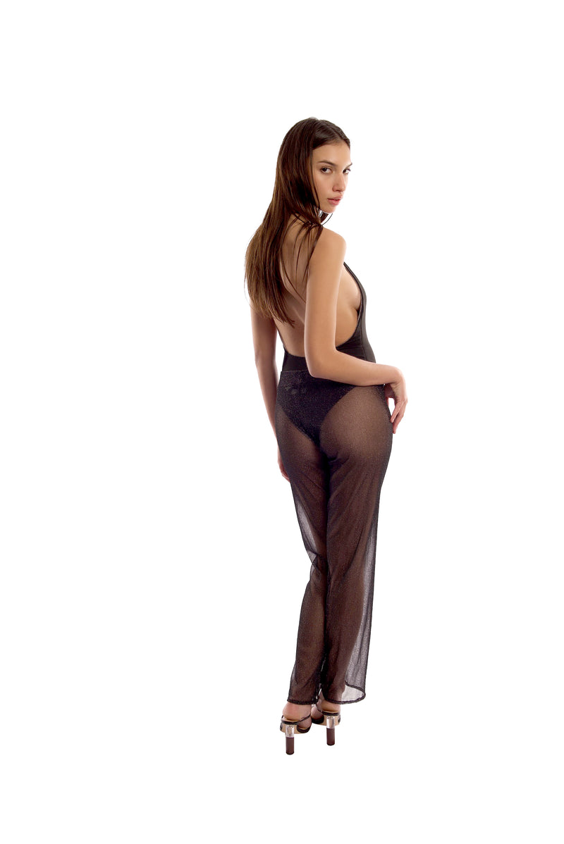 MILA PANT IN BLACK MESH