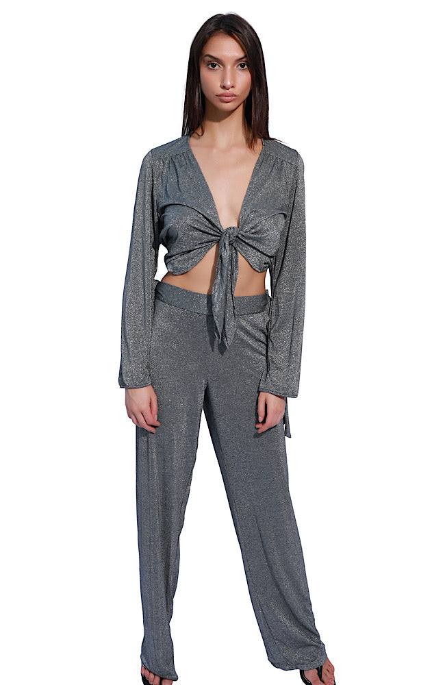 BELLE PANT IN SILVER