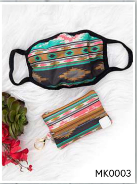 Face Mask w/ Matching Zippered Bag 7 styles