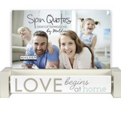 Spin Quote Family 4 x 6 Photo Frame