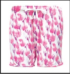 Muted Pink Floral Lounge Shorts