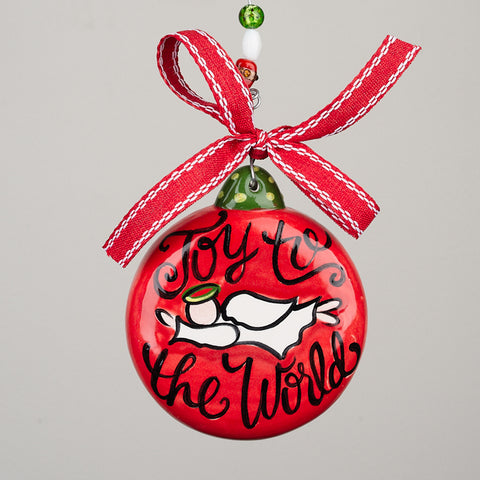 Joy to the World Puff Ornament