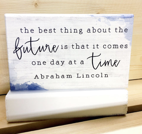 Future Comes Wood Block