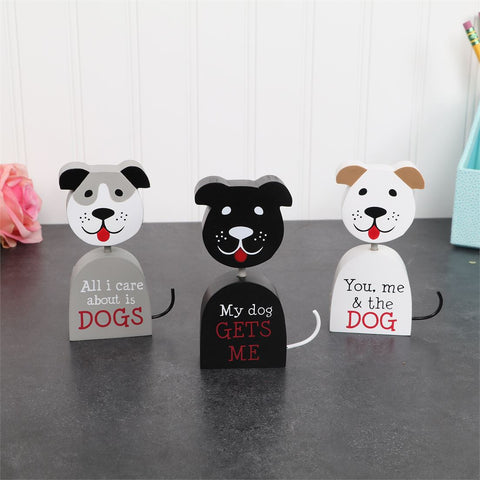 Dog Sayings Block Signs