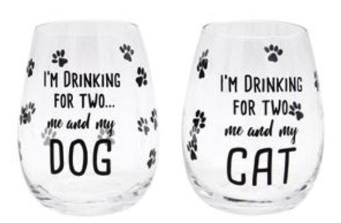 Wine Glass Drinking for Two Dog/Cat 12281