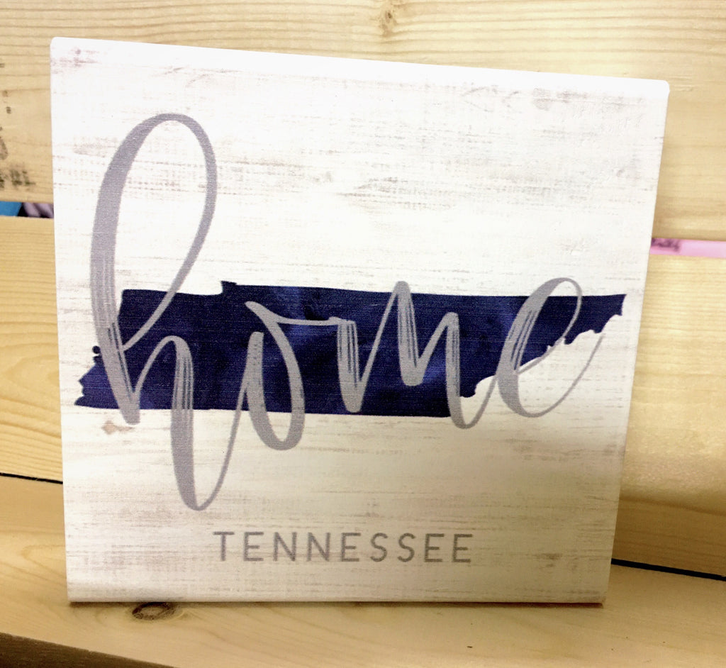 Home State Wood Block