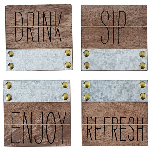 Sentiment Wood Coasters