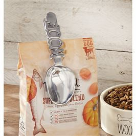 Dog food woof scoop and clip