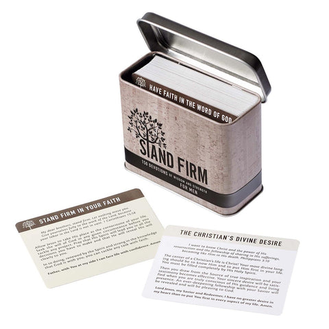 Box of Blessings Stand Firm Men's Devotional Cards in Tin