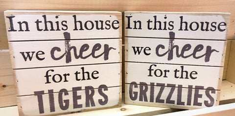We Cheer Mini Wood Canvas