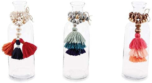 Bead and Tassel Bud Vase