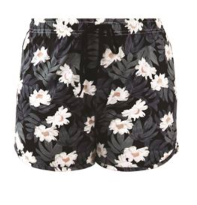 Lounge  Shorts Staycation Black Daisey