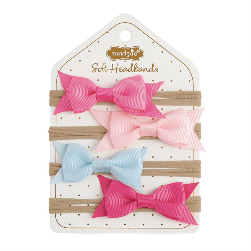 Grosgrain Bow Soft Headband Set