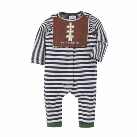 Football Bib & 1 Pc Set Baby Boy Outfit